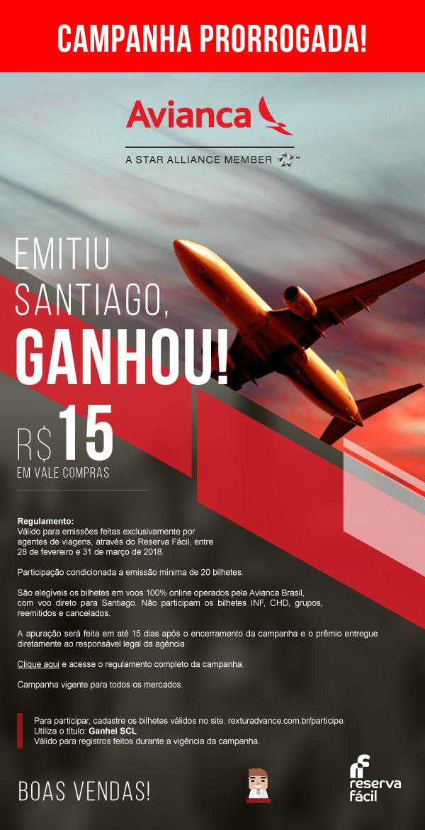 Avianca -  Emitiu Santiago, ganhou!